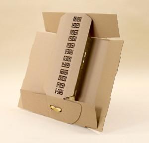 płaskie pudełko do wina