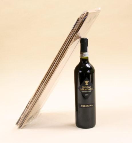 pudełko na wino szare