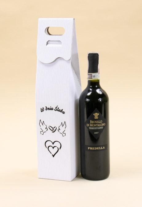 Pudełko do wina białe R6