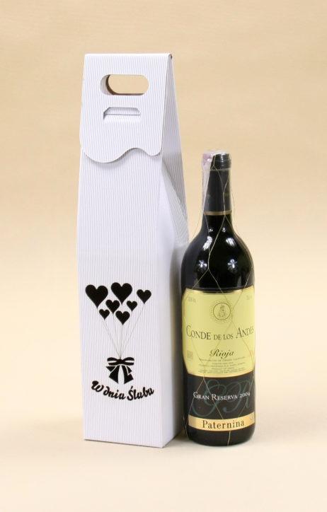 Pudełko do wina białe R7