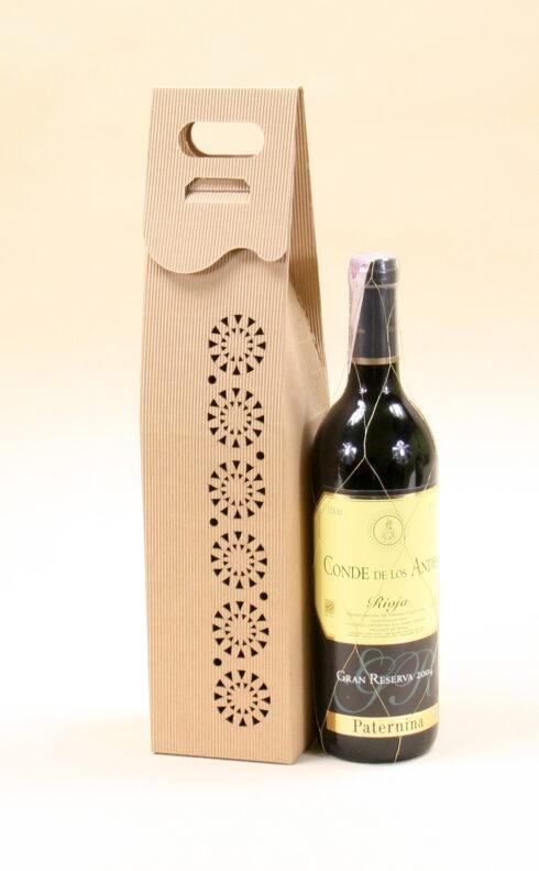 Pudełko do wina szare Rs2