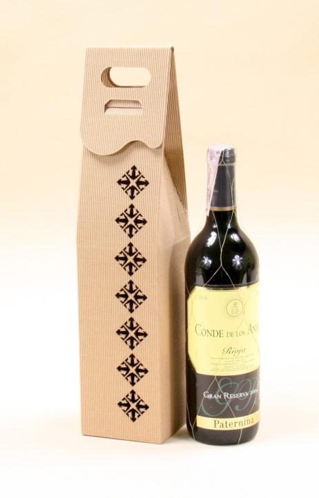 Pudełko do wina szare Rs5