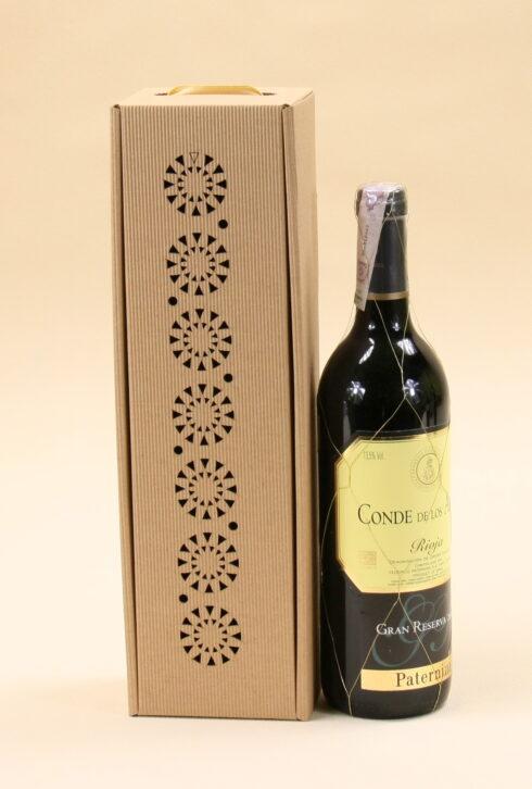 Pudełko do wina szare Cs2