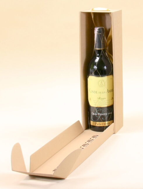 pudełko ślubne na wino szare