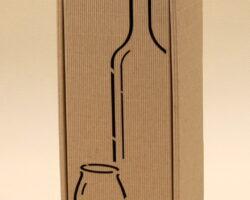 Pudełko do wina szare Gs5