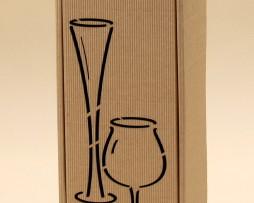 Pudełko do wina szare Gs6