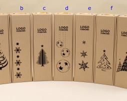 pudełko na wino szare z logotypem