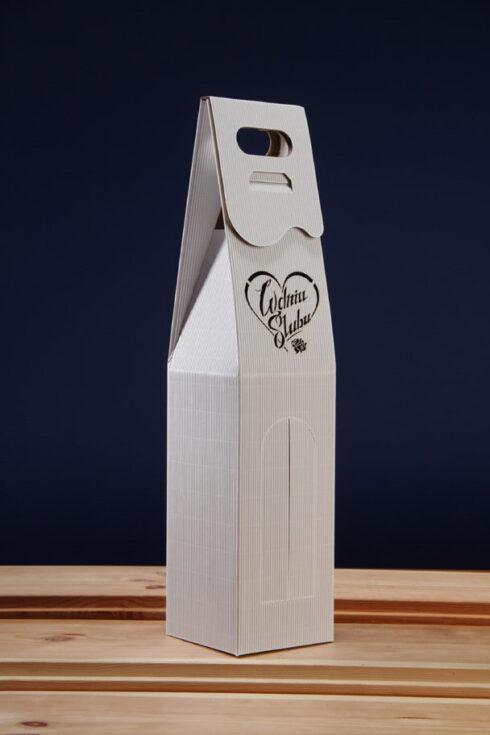 Pudełko do wina białe PS6