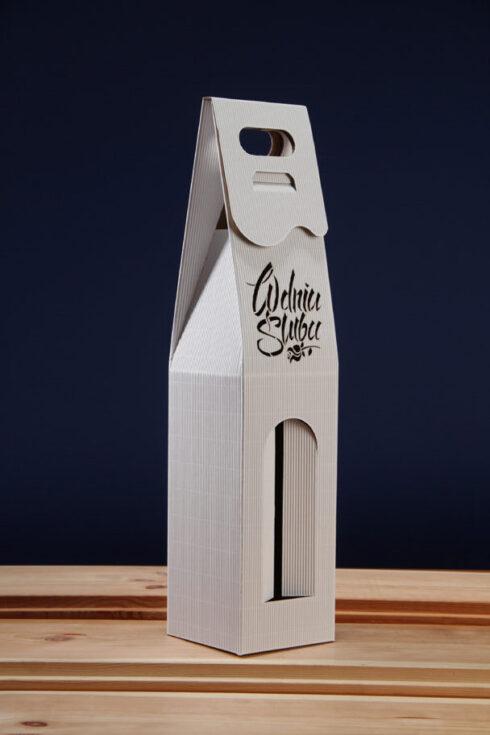 Pudełko do wina białe PS8
