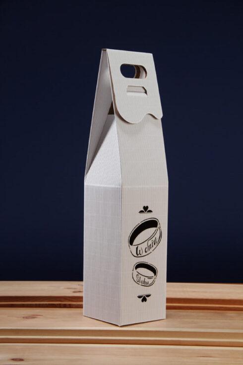 Pudełko do wina białe PS4