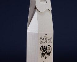 Pudełko do wina białe PS1