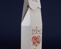 Pudełko do wina białe PS1C